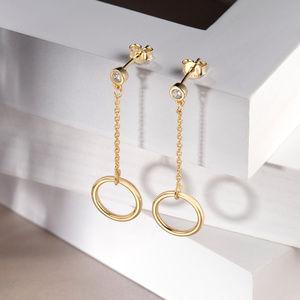 Sterling Silver Bridal Dangle Earrings For Women